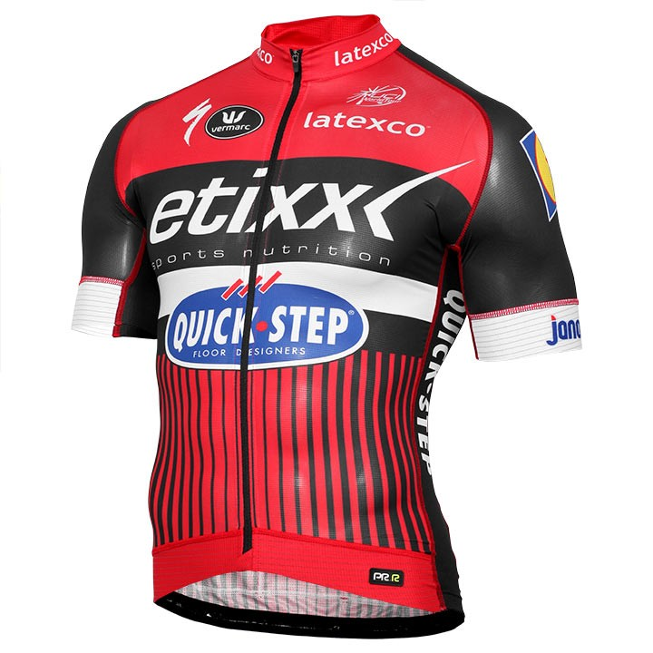 2016 ETIXX-QUICK STEP Kurzarmtrikot PRR LTD Edition rot
