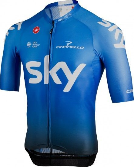 Team Sky 2019 Training Edition Aero Race 6.0 Radtrikot Kurzarm (Langer Rv)